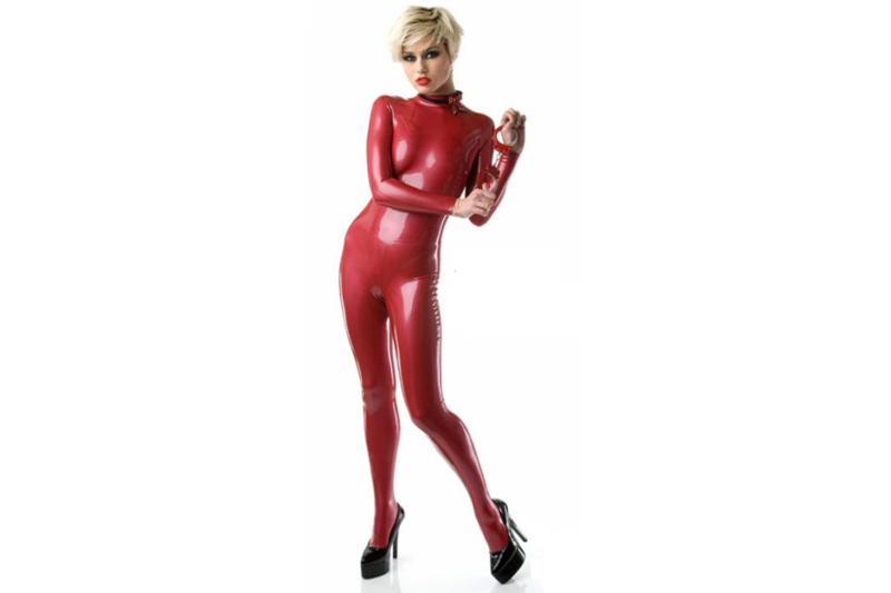 Metallic rood latex dun en dik stevig glimmend latex om zelf latex kleding te maken en te repareren per meter diktes