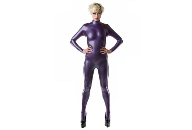 metallic paars purple violet latex