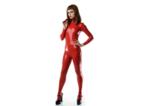 Rood latex 040 dun en dik stevig glimmend latex stof om zelf latex kleding te maken en te repareren per meter bewaren