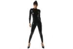Zwart latex 040 dun en dik stevig glimmend latex stof om zelf latex kleding te maken en te repareren per meter bewaren