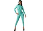 Jade groen latex  dun en dik stevig glimmend latex om zelf latex kleding te maken en te repareren per meter catsuit repareren