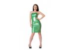 Pearlsheen groen latex  dun en dik stevig glimmend latex om zelf latex kleding te maken en te repareren per meter ontwerper