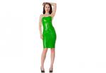Neon groen dun en dik stevig glimmend latex om zelf latex kleding te maken en te repareren of volg een workshop cursus
