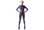 Metallic paars latex