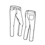 Patroon om zelf een latex rubber jeans te maken recht model basic latex kleding maken