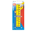 Meetlint 150 cm inches centimeter geel prym