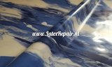 blauw wit marmer effect sheet latex marbled