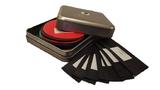 Blikje doosje box met latex rubber stalen voorbeelden kleuren diktes 02