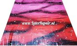 Exclusief latex - Galaxy Ombré Pink Red 02
