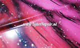 Exclusief latex - Galaxy Ombré Pink Red 01