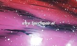 Exclusief latex - Galaxy Ombré Pink Red 07