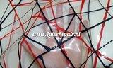 Exclusief latex - Transparant rode zwarte lijnen 03