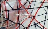 Exclusief latex - Transparant rode zwarte lijnen 04