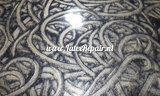 Metallic gold latex with black curls 02