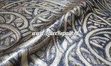 Metallic gold latex with black curls 01