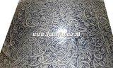 Metallic gold latex with black curls 03