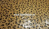 Leopard latex licht bruin met glitter 02