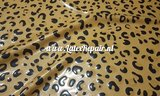 Leopard latex licht bruin met glitter 03
