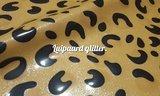 Leopard latex licht bruin met glitter 03 latexrepair