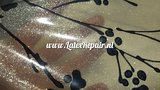 Transparant zwart latex glitters 01