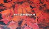latex rood plum zwart mix