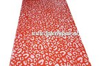 sheet latex leopard rood wit red