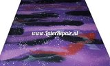 Latex sheet - Galaxy pink/violet 1252