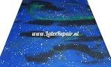 Latex sheet - Galaxy blue/green 1253