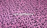 Latex sheet - Leopard bubblegum pink 1270
