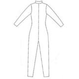 patroon latex catsuit