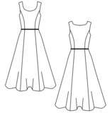 Patroon: Latex jaren 50 jurk