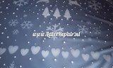 Metallisches blaues und weißes Blatt des Weihnachtslatex, das die falsche Weihnachtsstrickjacke macht