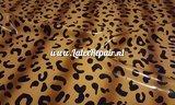 Leopard sheet latex bruin latex folie meterware stof fabric 01