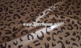Leopard luipaard sheet latex stof metallic gold black