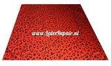 Rood leopard latex sheet stof fabric 02