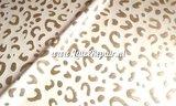 Leopard luipaard tijger print latex rubber sheet goud wit 01