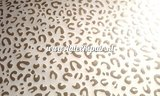 Leopard luipaard tijger print latex rubber sheet goud wit 02