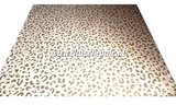 Leopard luipaard tijger print latex rubber sheet goud wit 03