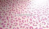 Leopard luipaard tijger print latex rubber sheet rose wit 01