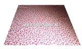 Leopard luipaard tijger print latex rubber sheet rosa wit 02