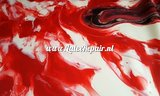 Rood wit gemarmerd latex sheet latexfolie marmor marbled