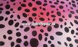Latexfolie met grote stippen disco pink roze rosa