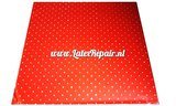 Red latex white dots dotted sheet latex