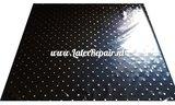 Schwarzer Latex mit goldenen Punkten, Latexkleidung selber machen, Latexmode