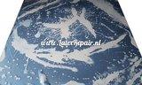 Latex sheet fabric with bleach effect