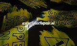 Slippery when wet latex sheet