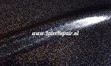 Glitter latex effect sheet zwart