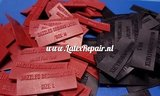 Latex rubber kleding clothing labels tags 01