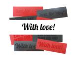 Latex rubber labels tags voor kleding 3d textured struktuur structuur teksten
