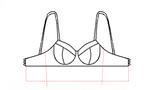 Patroon voor een latex bh te maken kleine maten grote maten groot klein met beugels 03